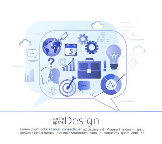 Kreatives infographic Konzept des Gespräches.