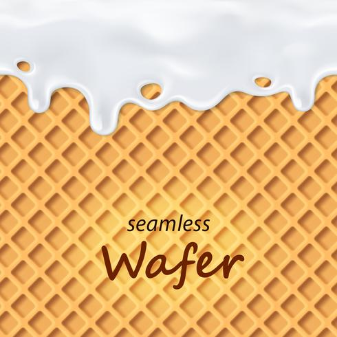 Seamless wafer and dripping milk repeatable