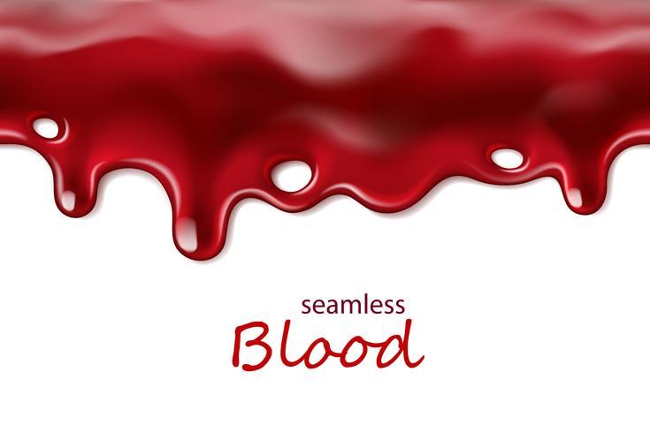 Nahtloses tropfendes Blut wiederholbar lokalisiert auf weißem Hintergrund