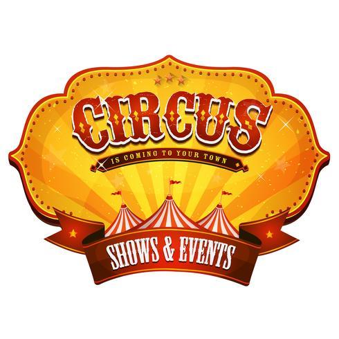 Banner de circo de carnaval com Big Top