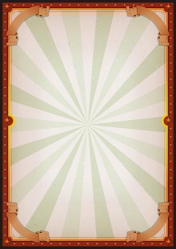segno del manifesto del circo vuoto dell'annata