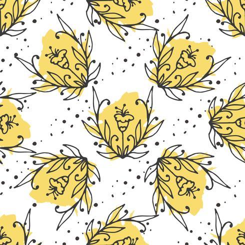 Vektor floral dekorativen Satz. Kräuter und wilde Blumen.