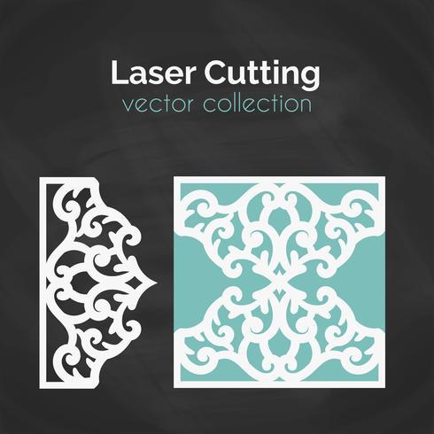 Cartão de corte a laser. Modelo Para O Corte. Ilustração de recorte.