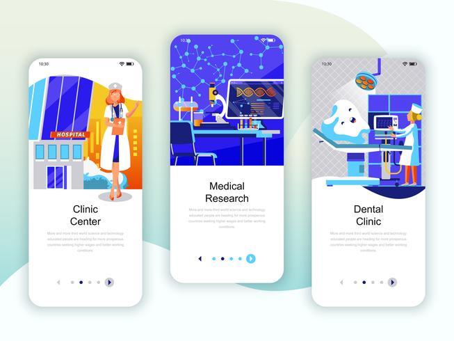 Conjunto de kit de interface de usuário de telas de integração para Medicina, Pesquisa