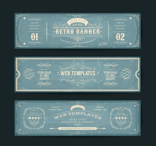 Vintage Website Banners Templates