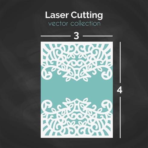 Laserskärmsmall. Carverd hälsningskort.