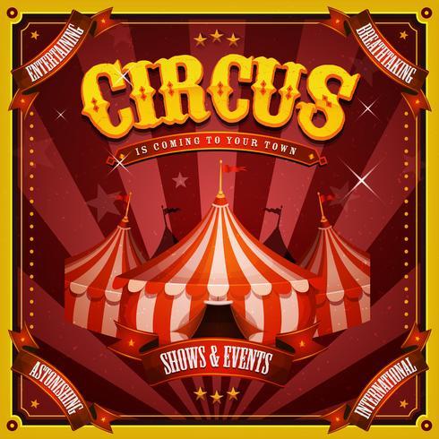 Cartel del circo del vintage con la tapa grande