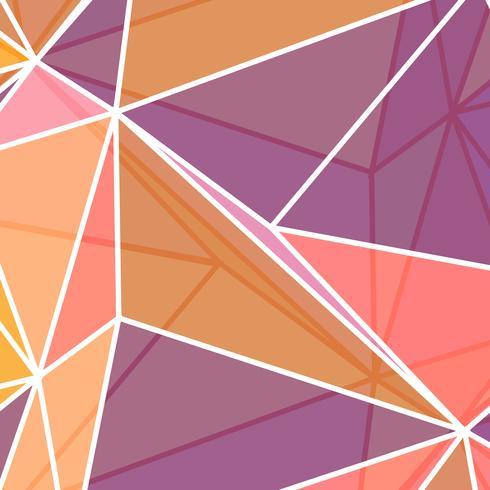 Laag poly abstract in koraal kleuren