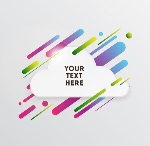 Vectorachtergrond met document kaart en abstracte kleurrijke vormen. Trendy neonlijnen en cirkelsbehang in een moderne materiaalstijl.