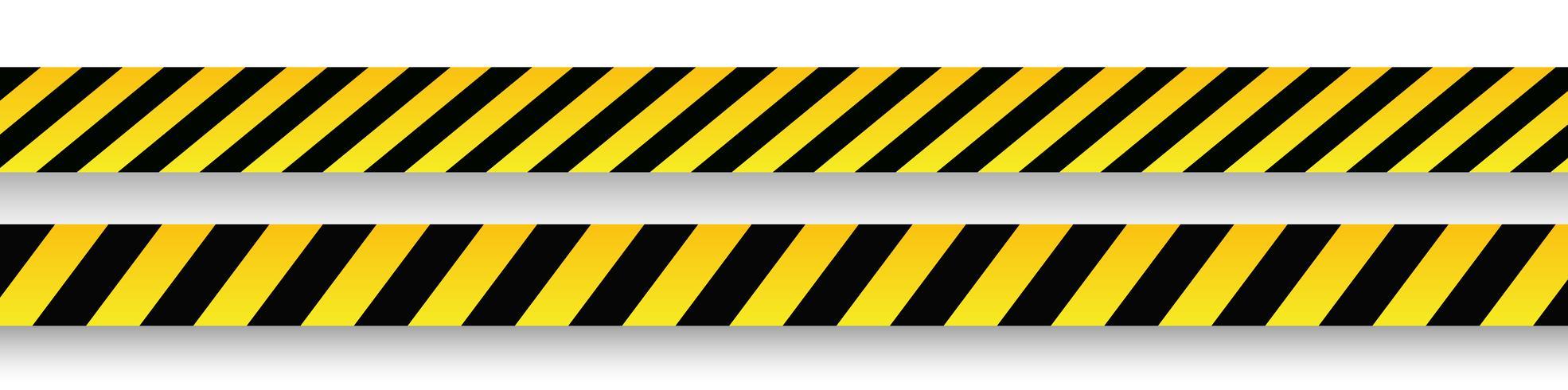 Vector de señales de advertencia y cintas.