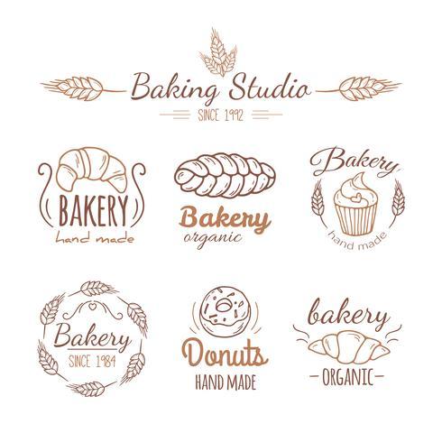 Bakkerij logo elementen. vector