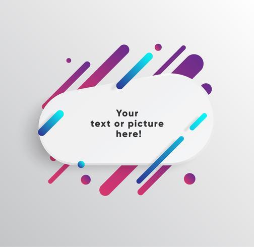 Vektor bakgrund med papper kort och abstrakta färgglada former