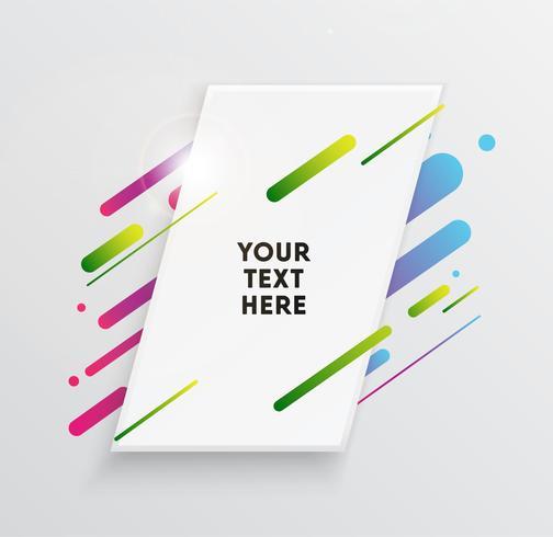 Carta da parati e cerchi al neon alla moda