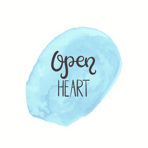 Cita romántica Texto de amor para el día de san valentín. Diseño de tarjetas de felicitación. Ilustración vectorial para la impresión. Fondo acuarela aislado en blanco. vector