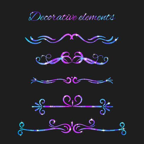 Vector Flourishes. Dividers Set. Hand Drawn Decorative Swirls