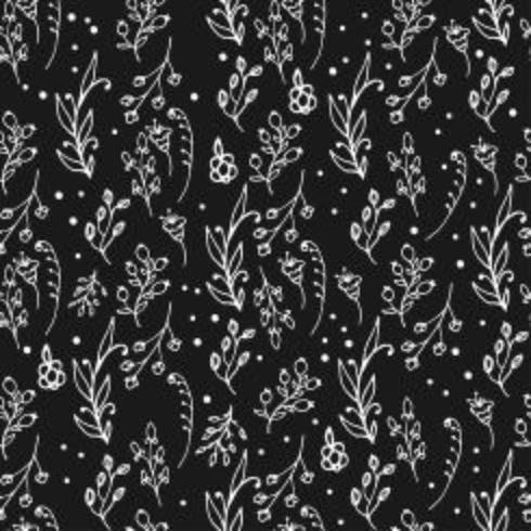 Patrón de hierbas sin fisuras Estampado de hierbas y flores silvestres.