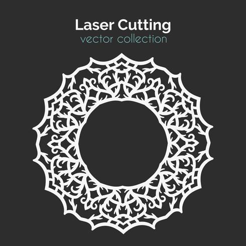Modelo de corte a laser. Cartão Redondo. Die Cut Mangala