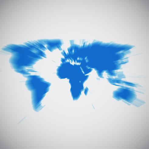 World map focusing on Africa, vector illustration