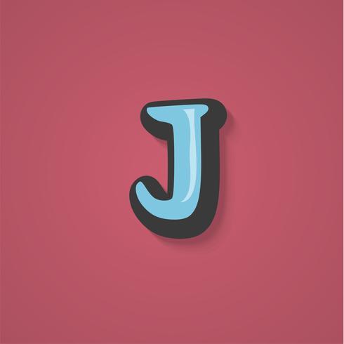 Grappig karakter van een lettertype, vectorillustratie