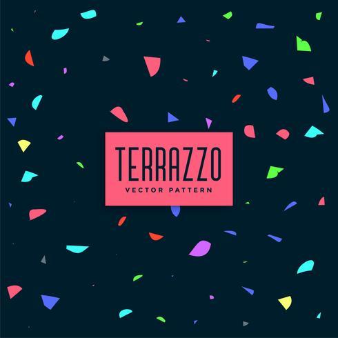 dark colorful terrazzo pattern background