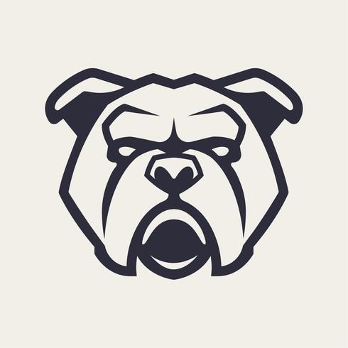 bulldogg maskot vektorikonen vektor