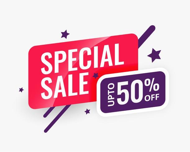 modello di progettazione di banner astratto di vendita speciale