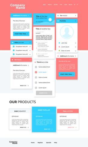 Diseño web moderno para negocios, ilustración vectorial