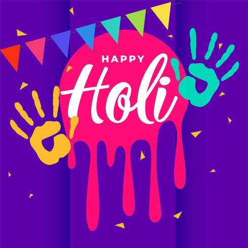 happy holi colorful greeting background