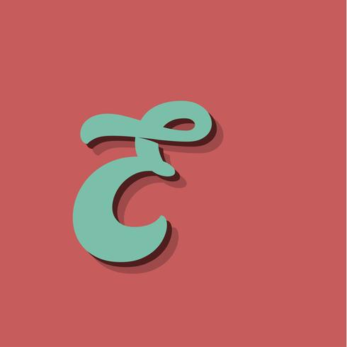 Retro character from a fontset, vector illustration