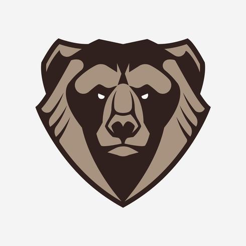 Bear mascotte vector pictogram