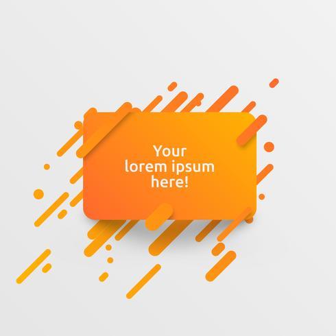 Modello arancione dinamico per la pubblicità, illustrazione vettoriale