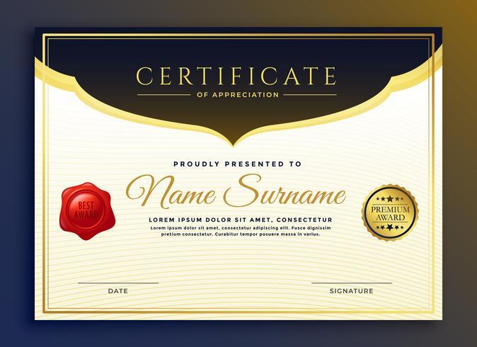 design modello di certificato di diploma professionale