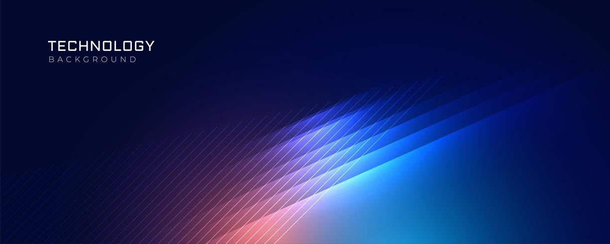 stilig blå teknik lyser bakgrund