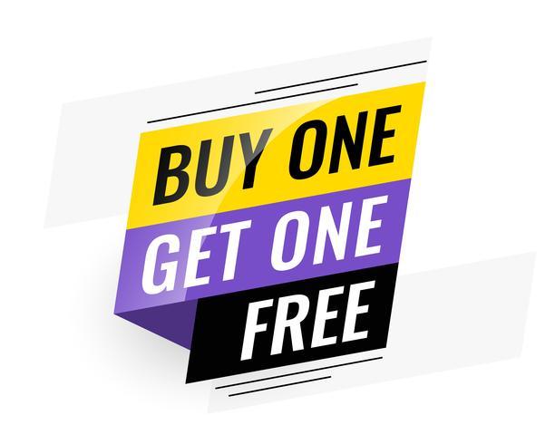 banner de venda livre bogo (compre um get um)