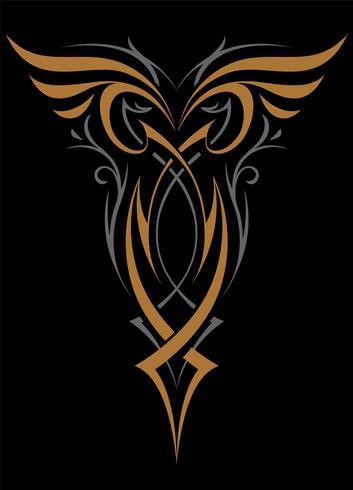 Forme de vecteur d'ornement abstrait gothique