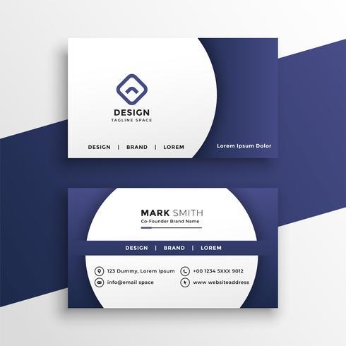 modern business card presentation template