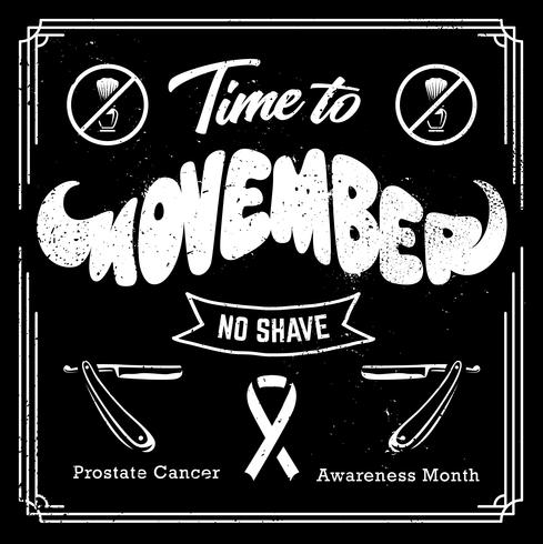 Movember Black and White Design