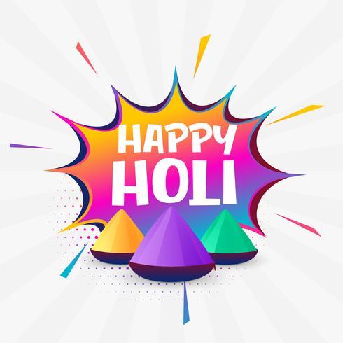 holi festival colorful background design