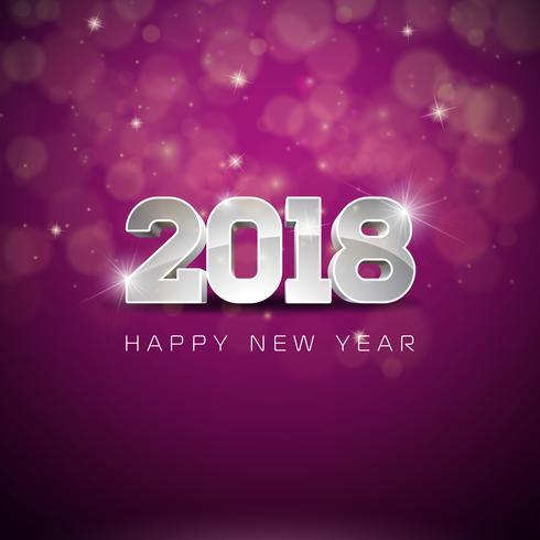 Feliz Año Nuevo 2018 Ilustración vector