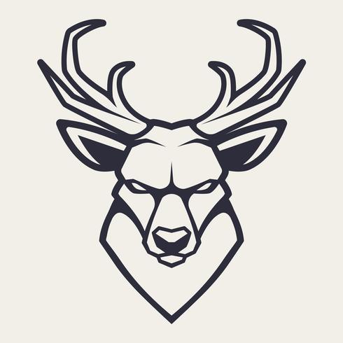 Hjort Mascot Vector Icon