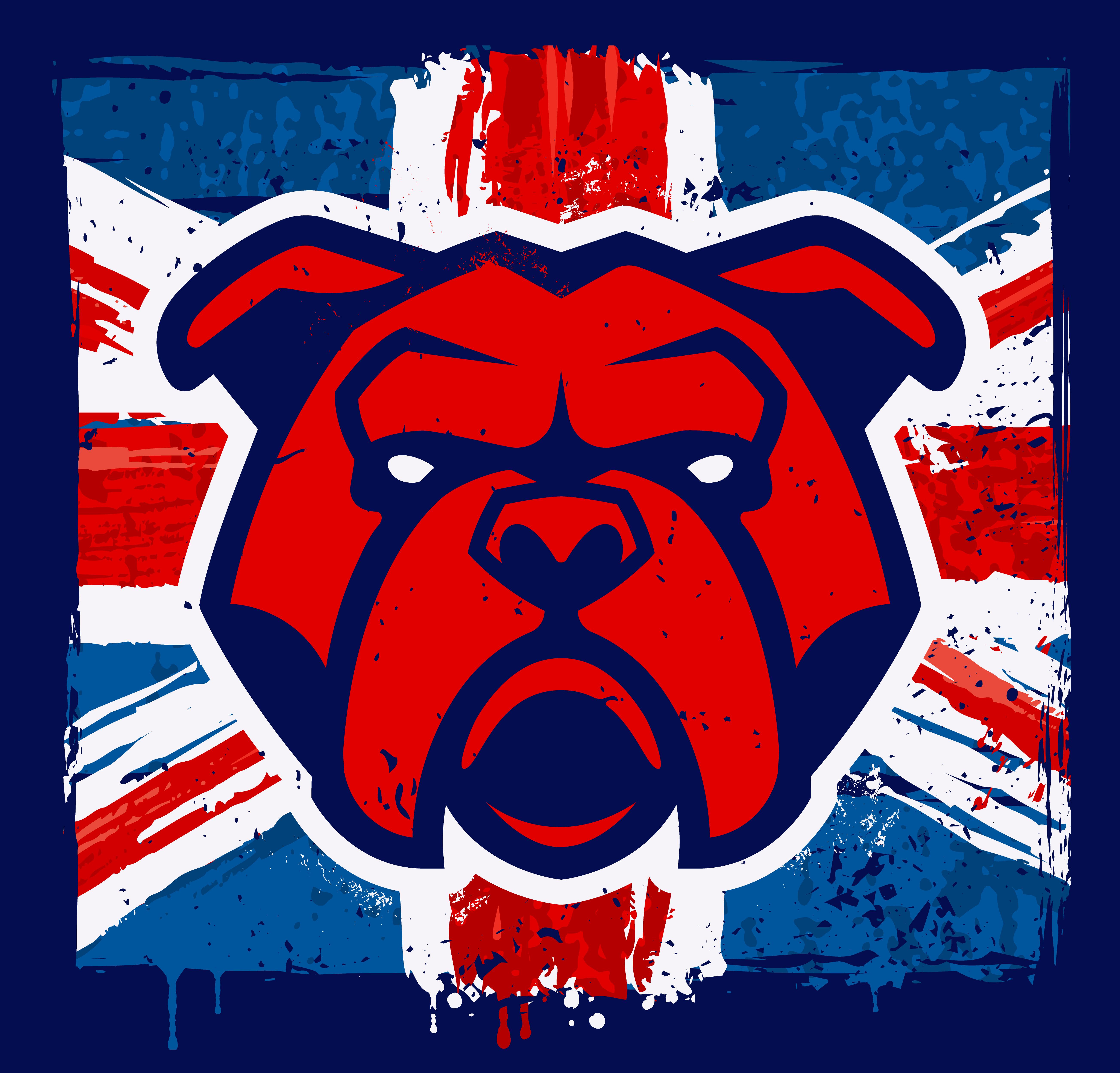 Bulldog Mascot on Grunge British Flag - Download Free ...