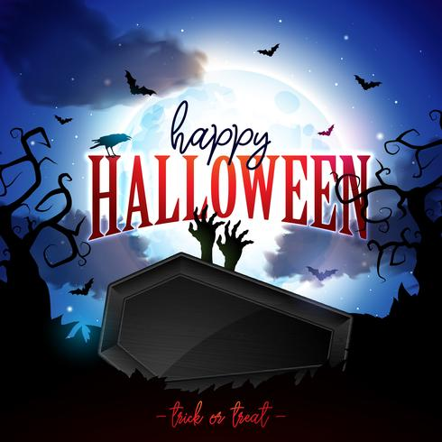 Illustration de bannière joyeux Halloween