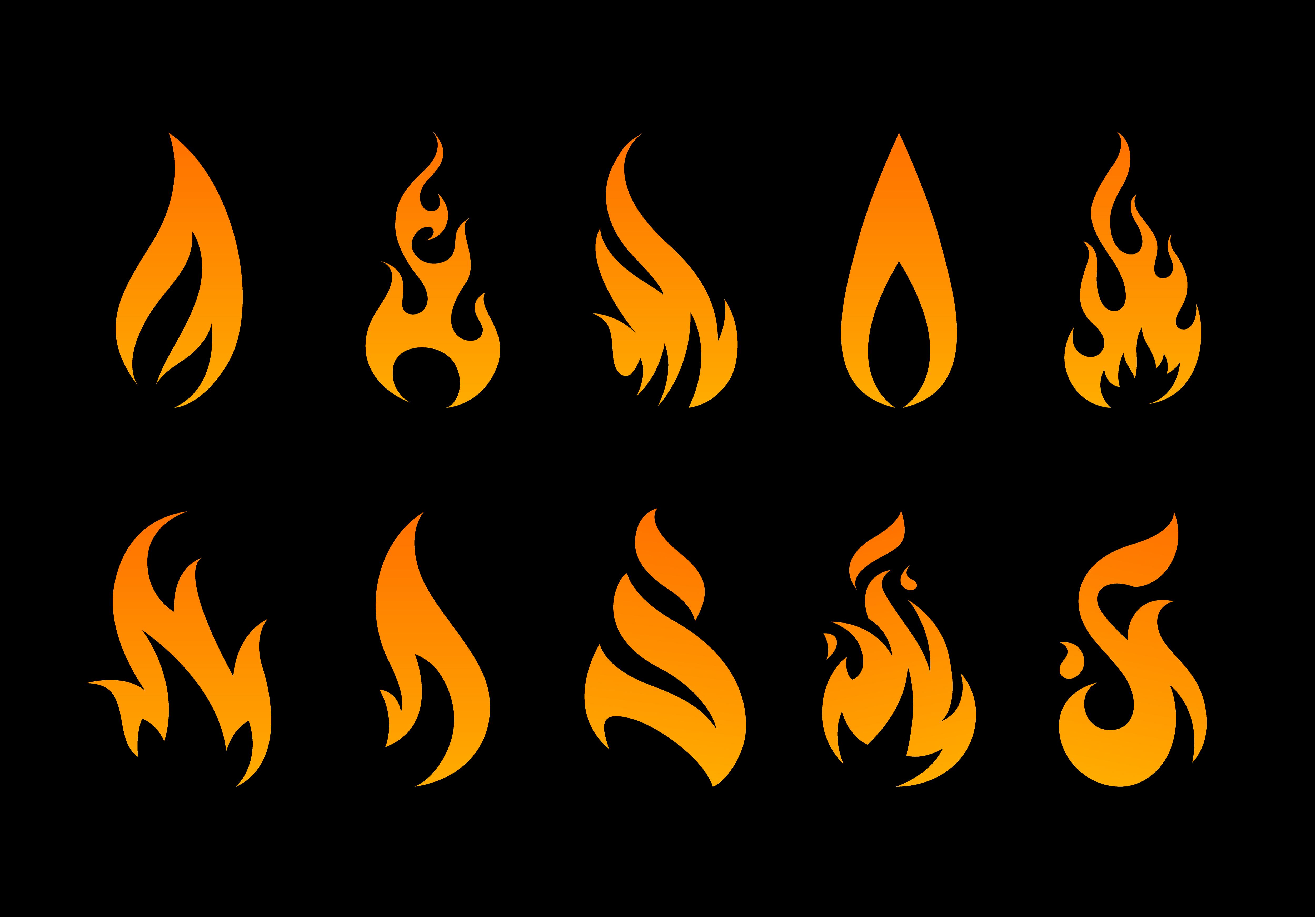 Vector Flame Shapes 334274 - Download Free Vectors ...
