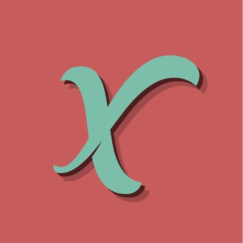 Retro- Zeichen von einem fontset, vektorabbildung