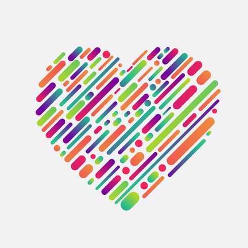 Forme colorée d'un coeur, illustration vectorielle