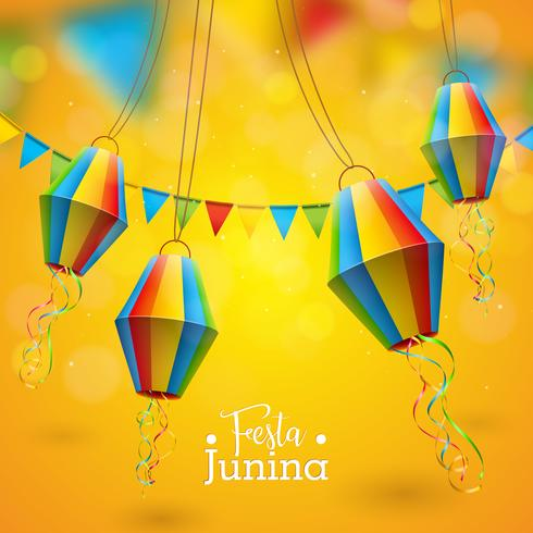 Ilustración de festa junina vector