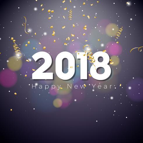 Felice Anno Nuovo 2018 Illustrazione vettore