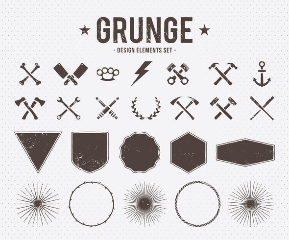 Elementi di design del grunge