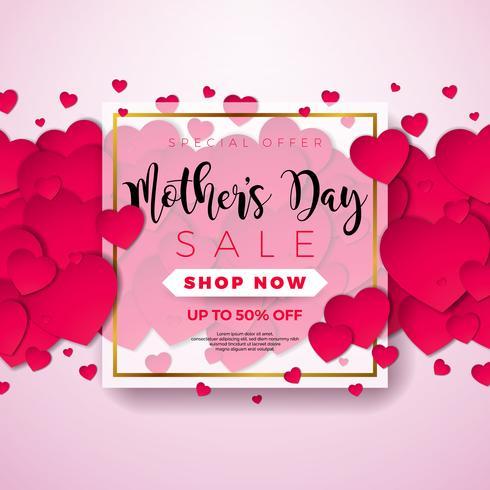 mödrar dag försäljning illustration