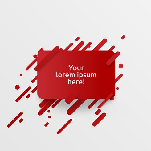 Dynamic red template for advertising, vector illustration
